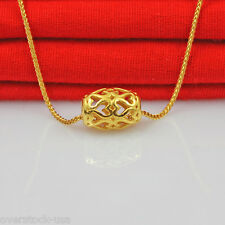 FINE Pure 24K Yellow Gold Pendant 3D Craft Heart Tube Pendant