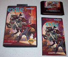 Exile RPG video game (Sega Genesis, 1991) complete in box CIB with manual