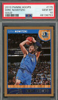 Dirk Nowitzki Dallas Mavericks 2013 Panini Hoops Basketball Card #115 PSA 10