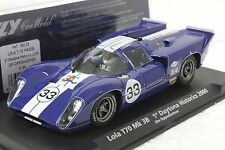 FLY C94 LOLA T70 DAYTONA SUNOCO BLUE TOAD HALL NEW 1/32 SLOT CAR IN DISPLAY