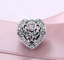 Genuino Pandora Pave opulento encanto del corazón de plata esterlina S925 Ale