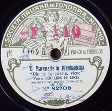 FERNANDO DE LUCIA Fonotipia 92705/6 Torna a Surriento - 'O Marenariello 78 RPM