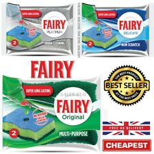 6 x Fairy Platinum & Original Washing Up Sponge Cleans Foams Wipes 2 in a pack
