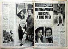 AL BANO / ROMINA POWER => Ritaglio 2 pagine 1970  // ITALIAN CLIPPING