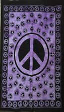 Purple Color Peace Sign Wall Hanging Handmade Wonderful Design Tapestry Poster