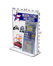 """TRU-VU 8 5/6""""W x 11 3/8""""H  Top Load Table Tent with attached Brochure Holder"""