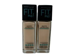 2 Maybelline Fit Me Matte + Poreless Foundation 112 Natural Ivory. New