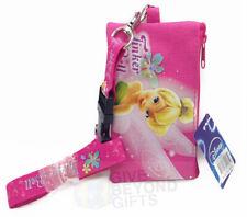 Disney Tinker Bell Hot Pink Lanyard ID Ticket Badge Key Chain Holder Wallet