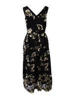 SL Fashions Women's Embroidered Mesh Midi Dress
