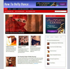 BELLY DANCING WEBSITE FOR SALE + UK AFFILIATE STORE & BANNERS NEW DOMAIN
