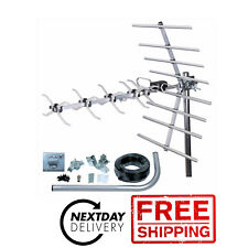 Digital TV Freeview HD High Gain 32 Element 4G Outdoor Aerial Kit - 24H POST