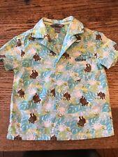 H&M VGC Boys Hawaiian printed fine cotton s/sleeve summer shirt - Age 1-1.5yrs