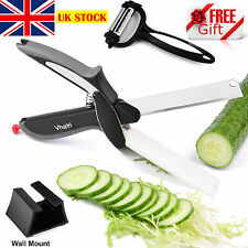 Vhari Clever Cutter 2in1 Kitchen Cutter & Scissors with Cutting Board -FREE GIFT