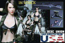 1/6 Metal Gear Solid Quiet Sexy Female Sniper Head Clothing Pistol Set IN STOCK