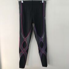 CW-X Women's Stabilyx 3/4 Length Compression Tights 125879A Size Small Black