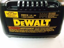 New Dewalt DW9116 7.2V - 18 Volt Nicd Battery Charger for DC9096 Battery 18V
