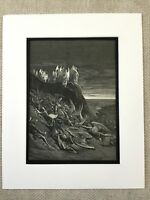 1870 Antique Print Michael and his Angels Victory Milton's Paradise Lost