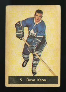 1961 PARKHURST #5 DAVE KEON FAIR TO GOOD NEAR PERFECTLY CENTERED HOF ROOKIE CARD