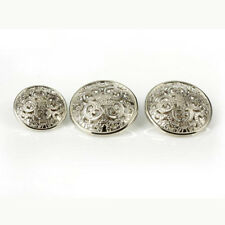 12PCS Vintage Floral Carving Round Shank Buttons Coat 15mm 18mm 20mm 23mm 25mm
