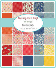 PATCHWORK/QUILTING FABRIC MODA CHARM SQUARES/PACKS - HOP, SKIP AND JUMP