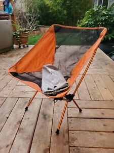 REI Co-op Flexlite Chair  Lightweight Backpacking Camping Hunting - Orange Black