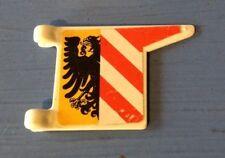 (C582) playmobil drapeau blanc vintage du lion noir 3450 3380 3409 3291 3449