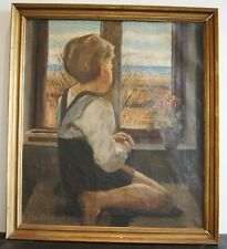 """CHR.AIGENS(1870-1940) """"BOY LOOKING AT THE SEA """""""
