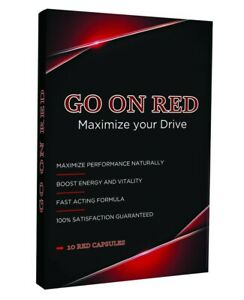 Go On Red, Natural Male Enhancement Performance Stamina booster 10 Red Pills