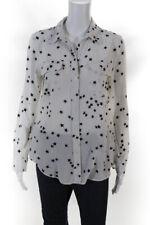 Equipment Womens Silk Stars Slim Signature Collared Shirt White Size S 12041739