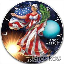 2015 SILVER EAGLE SPACE URANUS 1 Oz SILVER COLOR MINTAGE 100 PCS WITH COA