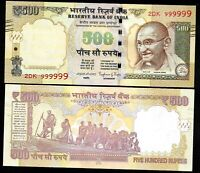 Rs 500/- India Banknote PREVIOUS TEL SOLID ISSUE 999999 GEM UNC Issue UNIQUE