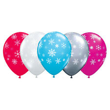 "5 x Snowflakes & Sparkles 12"" Latex Balloons (Variety of Colours Available)"
