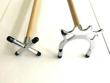 """2 x 36"""" 1 PIECE POOL or SNOOKER CUES With CROSS & BRIDGE RESTS For HOME TABLES"""