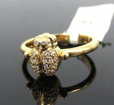 Rare Temple St Clair Scarab 0.11ct Diamond & 18K Yellow Gold Ring Size 6.75