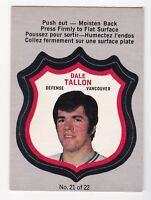 1972-73 O-Pee-Chee Player Crests Insert # 21 Dale Tallon