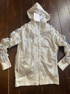 Adidas Originals Zip Hooded Flock Track Top Jacket Size 12 Medium Superstar