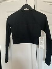 Lululemon Paddle Times Crop Top, Surf Pullover, RARE NWT size 8 BLACK