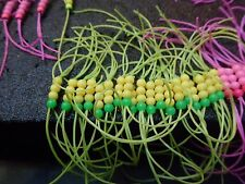 3X size 10 yellow + green beaded apps bloodworm bloodworms deadly trout flies