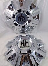 MAYHEM CHROME CUSTOM WHEEL CENTER CAP #C108102C/ #C108010    (FOR 2 CAPS )