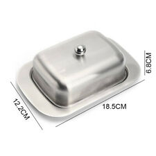 Butter Box Stainless Steel Dining Room Butter Box Butter Tray Dish Cheese PH67