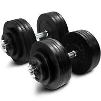Yes4All Cast Iron Adjustable Dumbbells Set 200 lbs Dumbell Weights Workout Gym