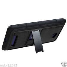 HTC Windows Phone 8X 6990 Hybrid Case Gummy Cover w/ Stand Black