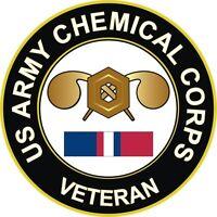 "Army Chemical Kosovo Veteran 5.5"" Decal / Sticker"