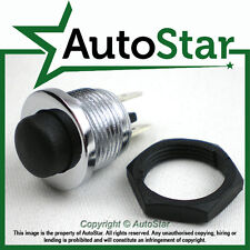 Chrome Momentary Push Button Switch – 12v 5A Screen Wash Horn Kit / Classic Car