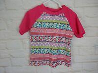 Floatimini Girls Top Size 4 Short Sleeve sun Shirt Pink Swim Shirt