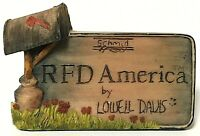 Vintage Hand-Signed Lowell Davis RFD America Dealer Counter Sign Schmid