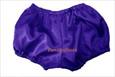 Bluish Purple Satin Pants Pantaloons Sissy Maid Adult Baby Fits With Underwear