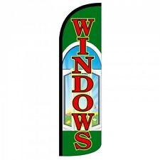 Windows Swooper Flag Only Windless 3' Wide Sign Banner Green Red