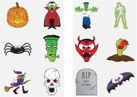 👻48 KIDS HALLOWEEN TATTOOS Temporary Transfers Party Bag Pinata Children Toys👻