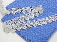 """Venise Lace 1 1/2 """" (38mm) Metallic Silver 5 Yards"""